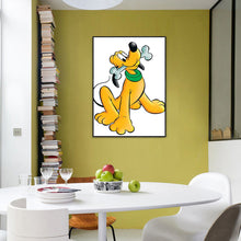 Load image into Gallery viewer, Cartoon Yellow Dog Round Full Drill Diamond Painting 30X40CM(Canvas)