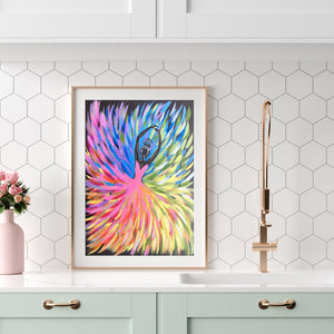 Colorful Girls Round Full Drill Diamond Painting 30X40CM(Canvas)