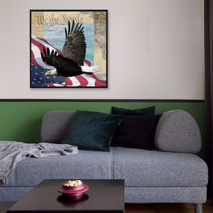 Eagle Flag Round Full Drill Diamond Painting 30X30CM(Canvas)