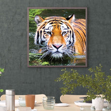Load image into Gallery viewer, Tiger Round Full Drill Diamond Painting 30X30CM(Canvas)