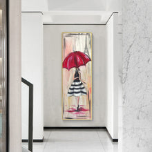 Load image into Gallery viewer, Girl with Umbrella Round Full Drill Diamond Painting 30X80CM(Canvas)