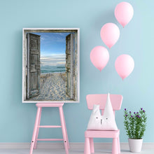 Load image into Gallery viewer, Beach Door Round Full Drill Diamond Painting 30X40CM(Canvas)