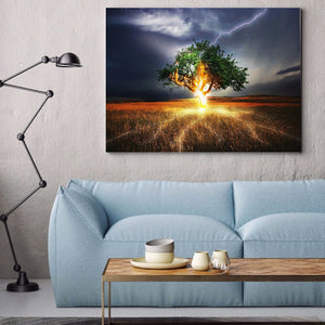 Tree Decoration Round Full Drill Diamond Painting 30X40CM(Canvas)