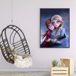 Cartoon Figure Round Full Drill Diamond Painting 30X40CM(Canvas)