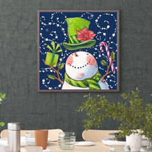 Load image into Gallery viewer, Snowman Xmas Round Full Drill Diamond Painting 30X30CM(Canvas)