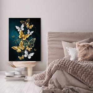 Butterfly Round Full Drill Diamond Painting 30X40CM(Canvas)