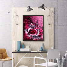 Load image into Gallery viewer, Rose Round Full Drill Diamond Painting 30X40CM(Canvas)