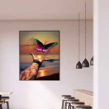 Load image into Gallery viewer, Sea Butterfly Round Full Drill Diamond Painting 30X40CM(Canvas)