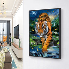 Load image into Gallery viewer, Butterfly Tiger Drawing Round Full Drill Diamond Painting 30X40CM(Canvas)