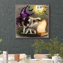 Load image into Gallery viewer, Halloween Round Full Drill Diamond Painting 30X30CM(Canvas)