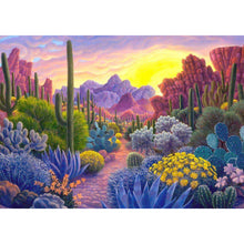 Load image into Gallery viewer, Cactus full round drill Diamond Painting 40*30CM(Canvas)
