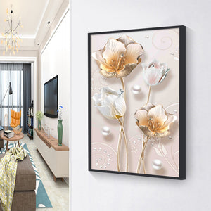 Part Flower Resin Special Part Drill Diamond Painting 30X40CM(Canvas)
