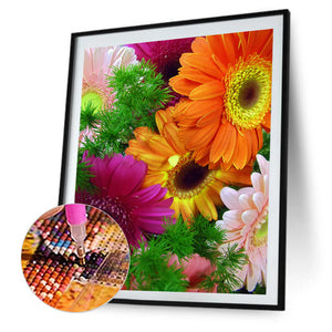 Bouquet Round Full Drill Diamond Painting 30X40CM(Canvas)