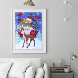 Snowman Special Part Drill Diamond Painting 30X40CM(Canvas)