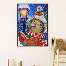 Load image into Gallery viewer, Cute Cat Drawing Special Part Drill Diamond Painting 30X40CM(Canvas)