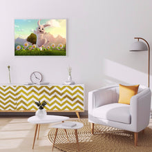Load image into Gallery viewer, Rabbit in Lawn full round drill Diamond Painting 40*30CM(Canvas)
