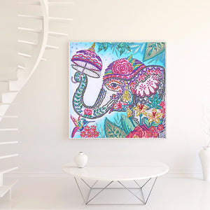 Elephant partial special shaped drill Diamond Painting 30*30CM(Canvas)