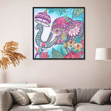 Load image into Gallery viewer, Elephant partial special shaped drill Diamond Painting 30*30CM(Canvas)