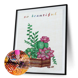 Potted Plants partial special shaped drill Diamond Painting 30*40CM(Canvas)