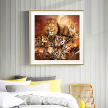 Load image into Gallery viewer, Jungle Animals full round drill Diamond Painting 30*30CM(Canvas)