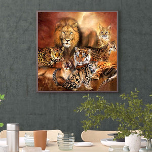 Jungle Animals full round drill Diamond Painting 30*30CM(Canvas)