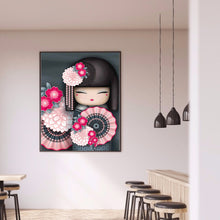 Load image into Gallery viewer, Kokeshi Doll full round drill Diamond Painting 30*40CM(Canvas)