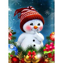 Load image into Gallery viewer, Red Cheeks Snowman full round drill Diamond Painting 30*40CM(Canvas)