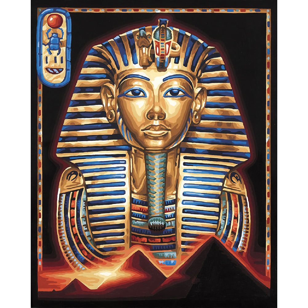 Egyptian Portrait 30x40CM(Canvas) full round drill diamond painting