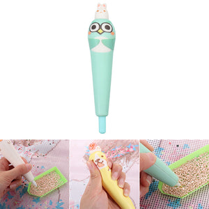 Cartoon Point Drill Pen for DIY Diamond Painting Rhinestone Picture (Green)