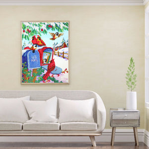 Snow Scenery 30x40CM(Canvas) partial special shaped drill diamond painting