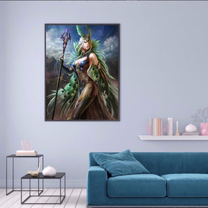 Magic Wizard 30x40CM(Canvas) full round drill diamond painting