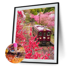 Load image into Gallery viewer, Train Scene 30x40CM(Canvas) full round drill diamond painting