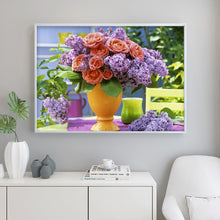 Load image into Gallery viewer, Flower Vase 40x30CM(Canvas) full round drill diamond painting