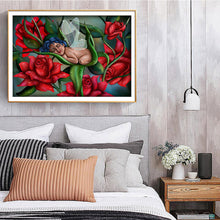 Load image into Gallery viewer, Baby Sleeping in Rose 40x30CM(Canvas) full round drill diamond painting