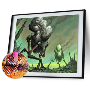 Monster Beaded 40x30CM(Canvas) full round drill diamond painting