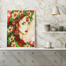 Load image into Gallery viewer, Beauty 30x40CM(Canvas) partial special shaped drill diamond painting