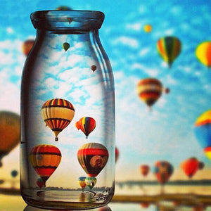 Hot Air Balloon 30x30CM(Canvas) full round drill diamond painting