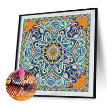 Load image into Gallery viewer, Mandala Luminous 30x30CM(Canvas) partial special shaped drill diamond painting