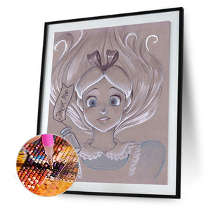 Princess Crystal 30x40CM(Canvas) full round drill diamond painting