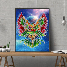 Load image into Gallery viewer, Luminous Owl 30x40CM(Canvas) partial special shaped drill diamond painting