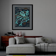 Load image into Gallery viewer, Elephant Luminous 30x40CM(Canvas) partial special shaped drill diamond painting