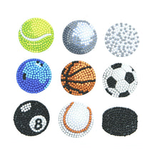 Load image into Gallery viewer, 9pcs Stickers DIY Round Drill Diamond Painting Sports Ball Rhinestone Kit