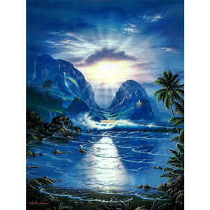 Fascinating Nature 30X40CM(Canvas) Full Round Drill Diamond Painting