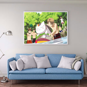Anime Friends 40X30CM(Canvas) Full Round Drill Diamond Painting