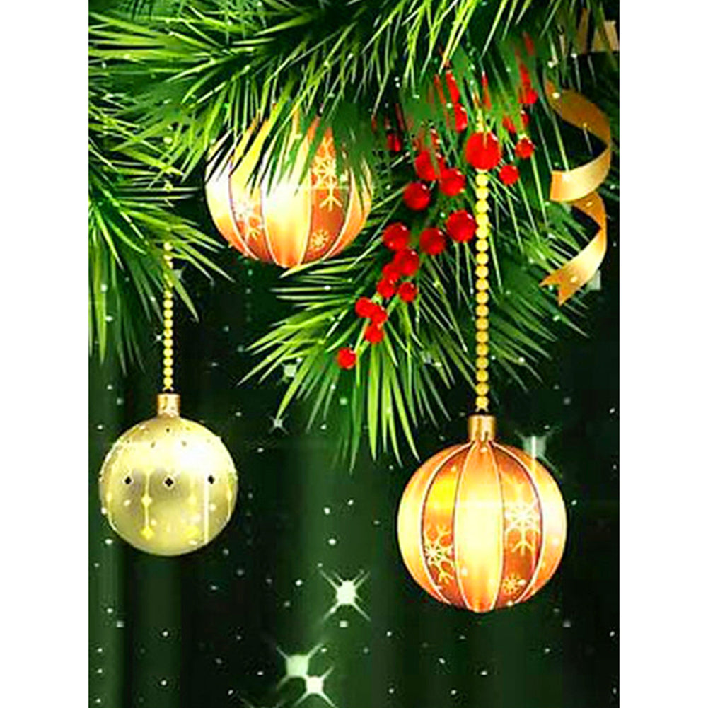 Christmas Ball 30x40CM(Canvas) full round drill diamond painting