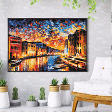 Load image into Gallery viewer, Sunset Street View 40x30CM(Canvas) full round drill diamond painting
