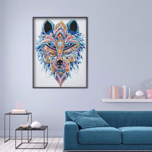 Load image into Gallery viewer, Wolf Head 30x40CM(Canvas) partial special shaped drill diamond painting