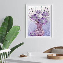 Load image into Gallery viewer, Flowers Vase 30x40CM(Canvas) partial special shaped drill diamond painting