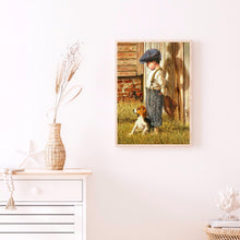Load image into Gallery viewer, Little Boy And Dog 30X40CM(Canvas) Full Round Drill Diamond Painting