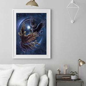 Flying Monster 30x40CM(Canvas) full round drill diamond painting
